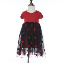 Comercio al por mayor vestido de encaje de tul encaje hermoso bebé niña vestido de flores