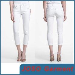La mujer recortada blanco Denim Jeans (JC1141)