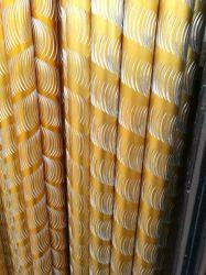 Bon de matières premières l'anodisation de différentes couleurs des tubes de profil en aluminium pièce tringle à rideau
