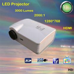3000内腔1280*768プロジェクターUSB/SD入力