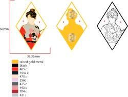 Custom умирают стоимость цинка сплав мягкой эмали Золотой лист штифты свободных произведений искусства.