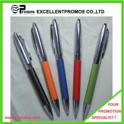 Couro PU promocionais caneta de Metal (7312)