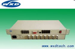 1-32 Voz del canal FXO/FXS sobre fibra multiplexor PCM 32voz + 8e1 + 8 Ethernet Ethernet