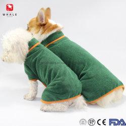 Nette tragende Taille, die weich Absorptionsmittel Microfiber Haustier-Hundebademantel-Tuch 100% für Hunde einwickelt