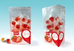 Commerce de gros de vrais fruits de remplissage de la gelée de fraise Candy