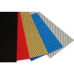 100% 3K reale ha colorato lo strato della fibra del carbonio per la maniglia della lama