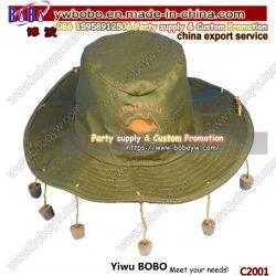 Itens de terceiros tradicional chapéu australiano tampão de algodão parte do Dia das Bruxas Hat Acessórios Traje Dom Negócios (C2001)