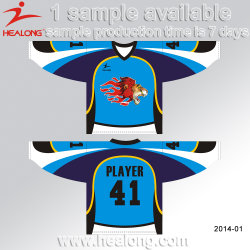 Custom Jerseys 100% Polyester SUBLIMATION Maillot de Hockey sur glace Sport de l'usure