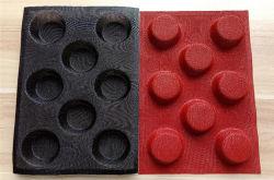 Tabuleiro perfurado de Silicone Non-Stick Mat cavidades 8 pãezinhos de Molde
