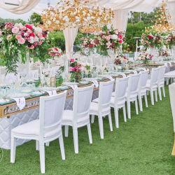 Neues Entwurfs-elegantes Goldchrom-glänzender Hochzeits-Ereignis-Stuhl-Großverkauf