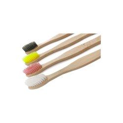 CE-Zulassung umweltfreundliche Holzkohleborsten OEM Bambus Zahnbürste mit Kundenspezifische Verpackung und Logo