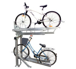 Deck duplo galvanizado bicicletas de Estacionamento