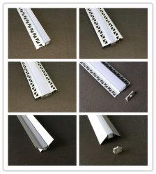 Profil en aluminium led encastrés dans les plaques de plâtre (argent anodisé pour cloison sèche) pour l'intérieur d'éclairage LED