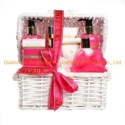 Soem-Fabrik-Großverkauf-Hand-und Karosserien-Sorgfalt-Reinigungs-Wäsche-Korb-Frauen, die Geschenk-Set einwickeln