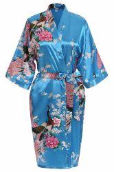 Premium переливчатый невесты устраивающих душ Халат покроя кимоно в подарок женщин