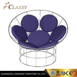 Recipiente único huevo Peacock silla con alambre de acero inoxidable de espuma y tela