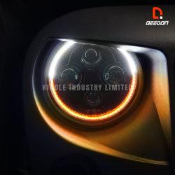 DOT/SAE 트럭 Offroad 지프를 위한 승인되는 7inch LED 헤드라이트 Hi/Low Beam+DRL/Turn 신호 백색 호박색 달무리 주간 야간 항행등