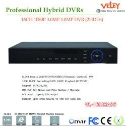 16CH de Digitale Videorecorder in real time Ahd Hybride DVR van de Veiligheid 1080P