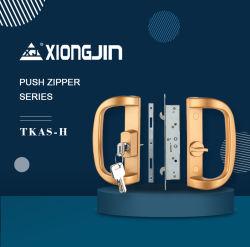Poignée de porte coulissante Zincy en aluminium avec la clé de verrouillage du loquet Hardware-Tkas-H