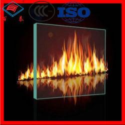 Precio Barato Panel de Construcción sin Marco Resistente al Fuego Borosilicato Ignífugo 90 Minutos 1.5 Horas Templado 2 Horas Vidrio Resistente al Fuego