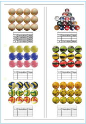6.3cm PU-Antidruck-Billiard-Kugeln für Förderung-Geschenk mit Soem-Marke