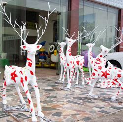 Plástico reforçado com fibra de vidro modernos e contemporâneos escultura de resina animais Estátua Abstract Deer Moose jardim exterior decoração Arte do mercado