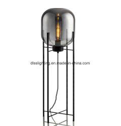 Casa moderna de Black Metal cristal decorativo Stand Lámpara de pie