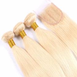 Trama brasiliana bionda del tessuto dei capelli umani del Virgin dei 613 prodotti per i capelli con la chiusura del merletto