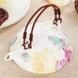 본 차이나 차 세트 식기 커피 잔 예술 사기그릇에 의하여 착색되는 도기