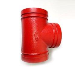 L'UL di FM ha certificato T uguale o riducentesi Grooved verniciato/galvanizzato duttile del ferro per protezione antincendio/miniera/ingegneria/il trasporto/spruzzatore del tubo