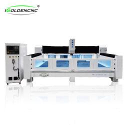 Lineare automatischer Hilfsmittel-Wechsler schnitzende CNC-Fräser-Steinmitte/Quarz-Ausschnitt und Poliermaschinerie-/Steinmarmorausschnitt-Granit-Fräsmaschine