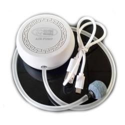 釣のための小型円形の整形黒い/Whiteカラー空気ポンプ