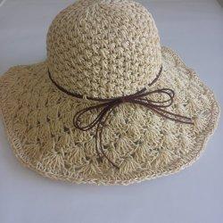 Mayorista de moda barata hermosas chicas Lady Beach bronceador Visor Cap sombrero de paja para el verano