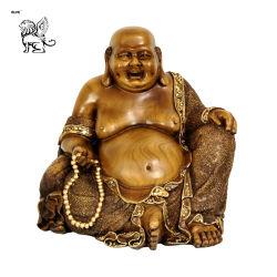 Proporcionar grandes bronce sentado Laughing Buddha Sculpture Garden Decotation Bsg-229