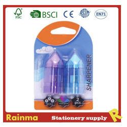 Ракета карандаш и устройства для заточки ножей ластик для резервного копирования для школьных принадлежностей