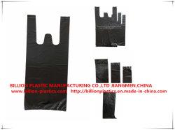 Tf-17062601 de plastic Zwarte Boodschappentas van de Hoekplaat