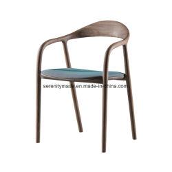 Handelsgüte-Gaststätte-hölzerner Esszimmer-Stuhl mit ledernem Sitz
