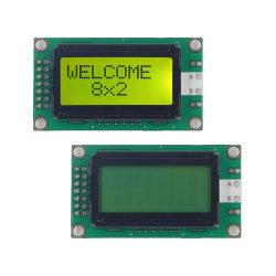 I2c 8X2 LCD Vertoning 14 Module met 8 bits van het Karakter 0802A LCD van het Scherm van de Parallelle Interface van de Speld de Zwart-wit