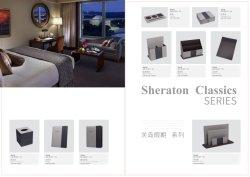 Chambre d'hôtel Gray cuir synthétique avec du tissu des boîtes de commodités