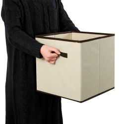 [إينّو-كرا] 6 حزمة غير يحاك بناء [فولدبل] قابل للتراكم وقابل للانهيار ملابس مكعب [ستورج بوإكس] وخانة في منزل