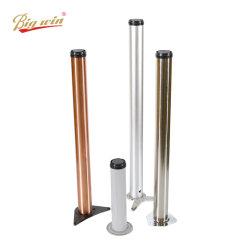 Herraje de muebles de acabado de diferentes colores de oro rosa de altura de los extensores de710mm/ 800mm/ 820mm/ 1100mm redondo Mayorista de metal de hierro las patas de mesa