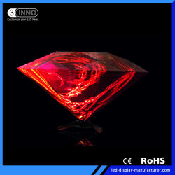 P4mm Daimond pantalla LED efecto 3D de cabina de DJ para la visualización de vídeo LED