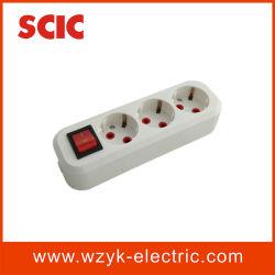 (YK424) 3 Möglichkeits-elektrische Erdung-Extensions-Kontaktbuchse mit Schalter