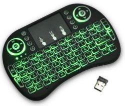 2019 Hot Sale 2.4G I8+ Pro Mini clavier sans fil J8 de la souris de la tablette tactile clavier rétroéclairé pour HTPC Teclado Tablet PC Portable