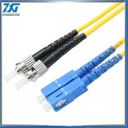 LC-LC Simplex câble fibre optique monomode 9/125 Cordon de raccordement de gros de pontage