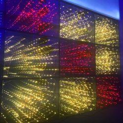 당 DJ 디스코를 위한 별 황금 RGB 3D 댄스 플로워