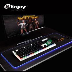 Het Stootkussen van de buitengewoon brede RGB LEIDENE Muis van het Gokken met Kabel USB & 10 Lichte Modellen
