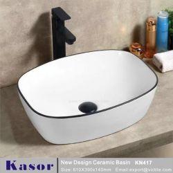 Casa de banho em cerâmica de Arte de moda da Bacia de lavagem das mãos para o Project (KN417)