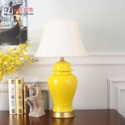Традиционные керамические желтый храм кувшин декоративный светильник (TL8002)