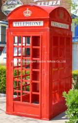 Antieke Telefooncel, de Aangepaste Telefooncel van de Rode Kleur van de Decoratie van Londen Openbare Openlucht